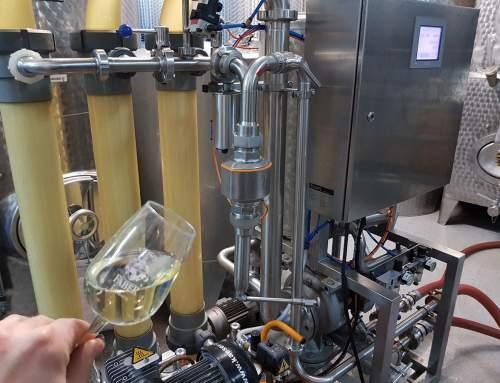 Die ersten 2017er Weine werden filtriert…